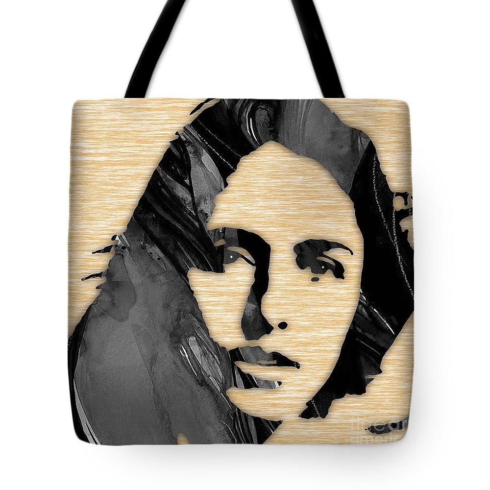 Joan Baez Tote Bag featuring the mixed media Joan Baez Collection by Marvin Blaine
