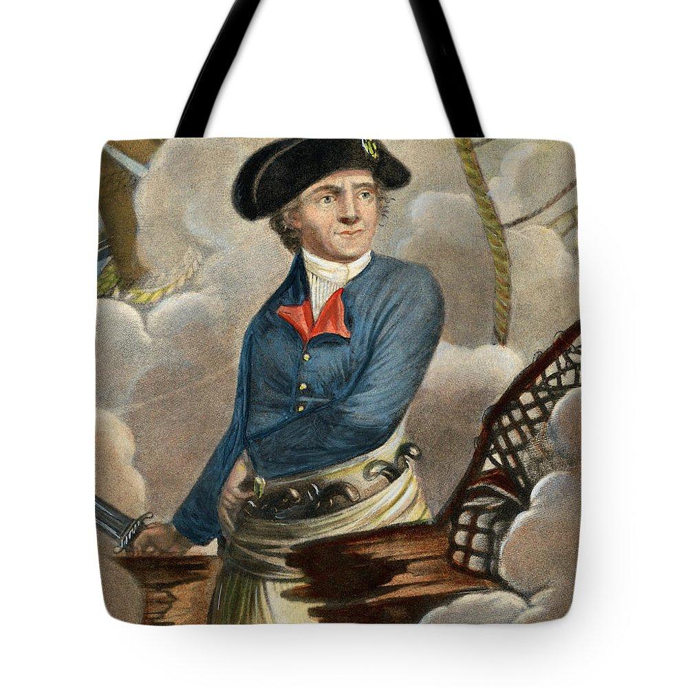 1779 Tote Bag featuring the drawing John Paul Jones, 1747-1792 by Granger