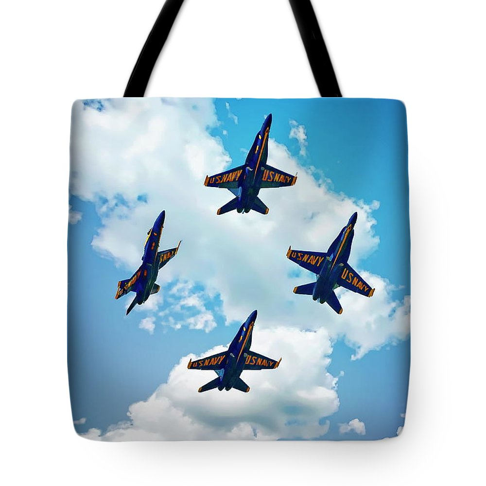 Air Tote Bag featuring the photograph Navy Blue Angels by Anthony Dezenzio
