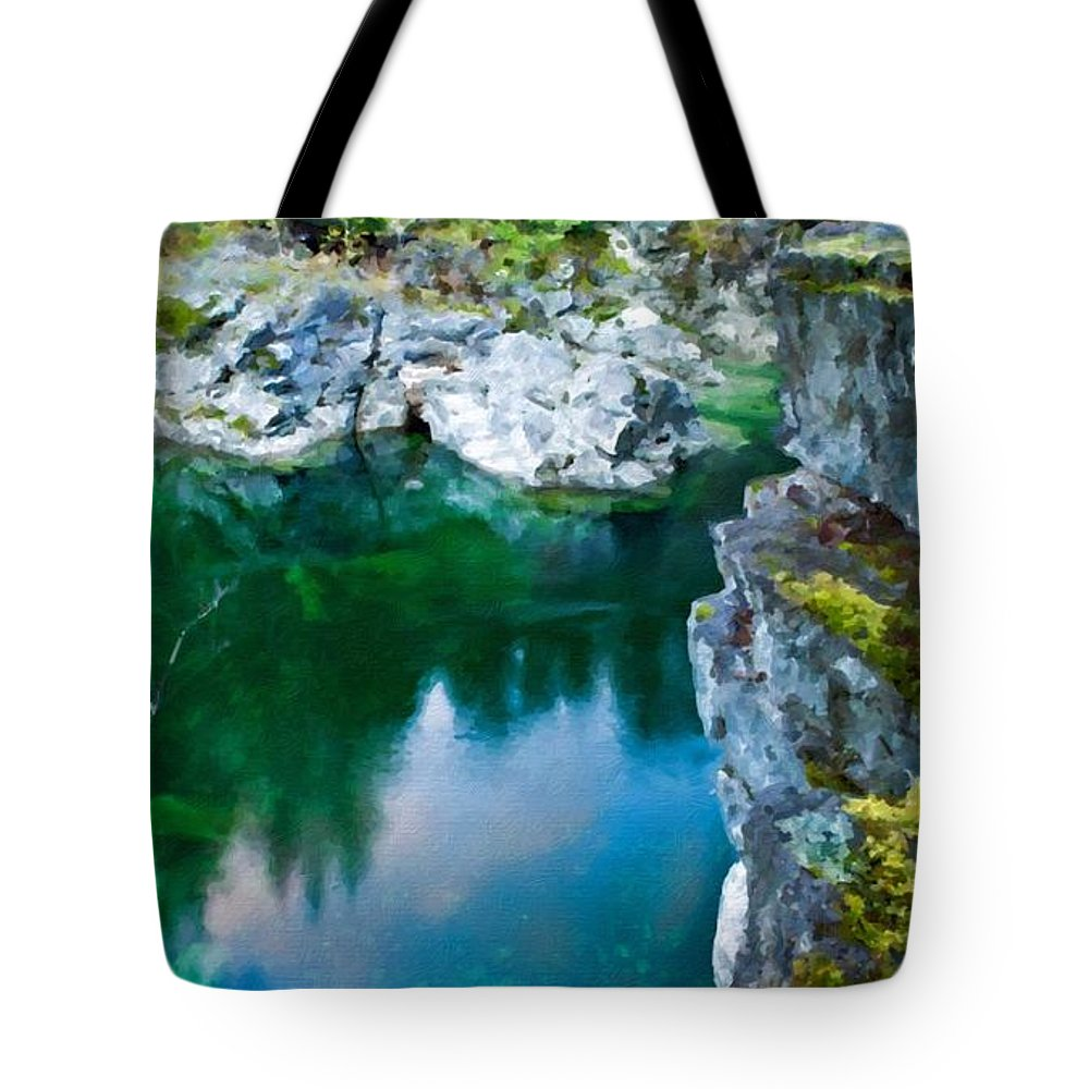C Tote Bag featuring the digital art R G Landscape by Malinda Spaulding