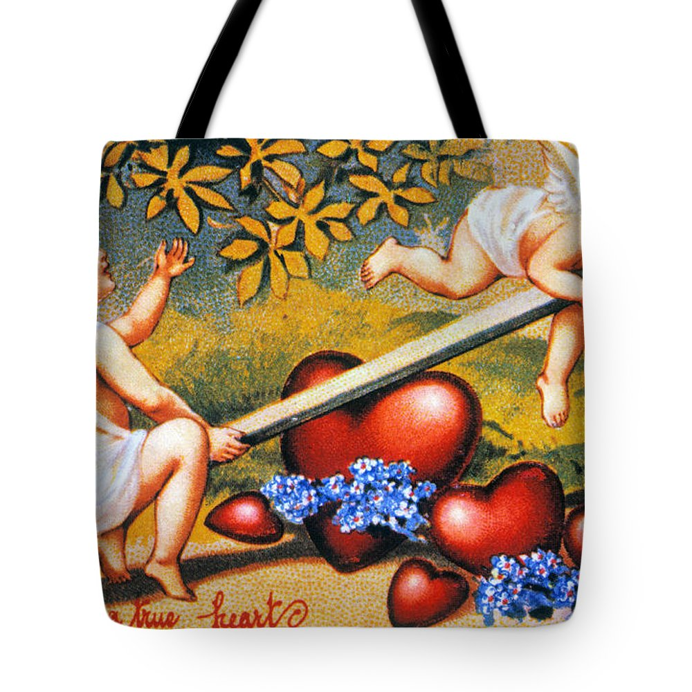 1900 Tote Bag featuring the photograph Valentines Day Card by Granger
