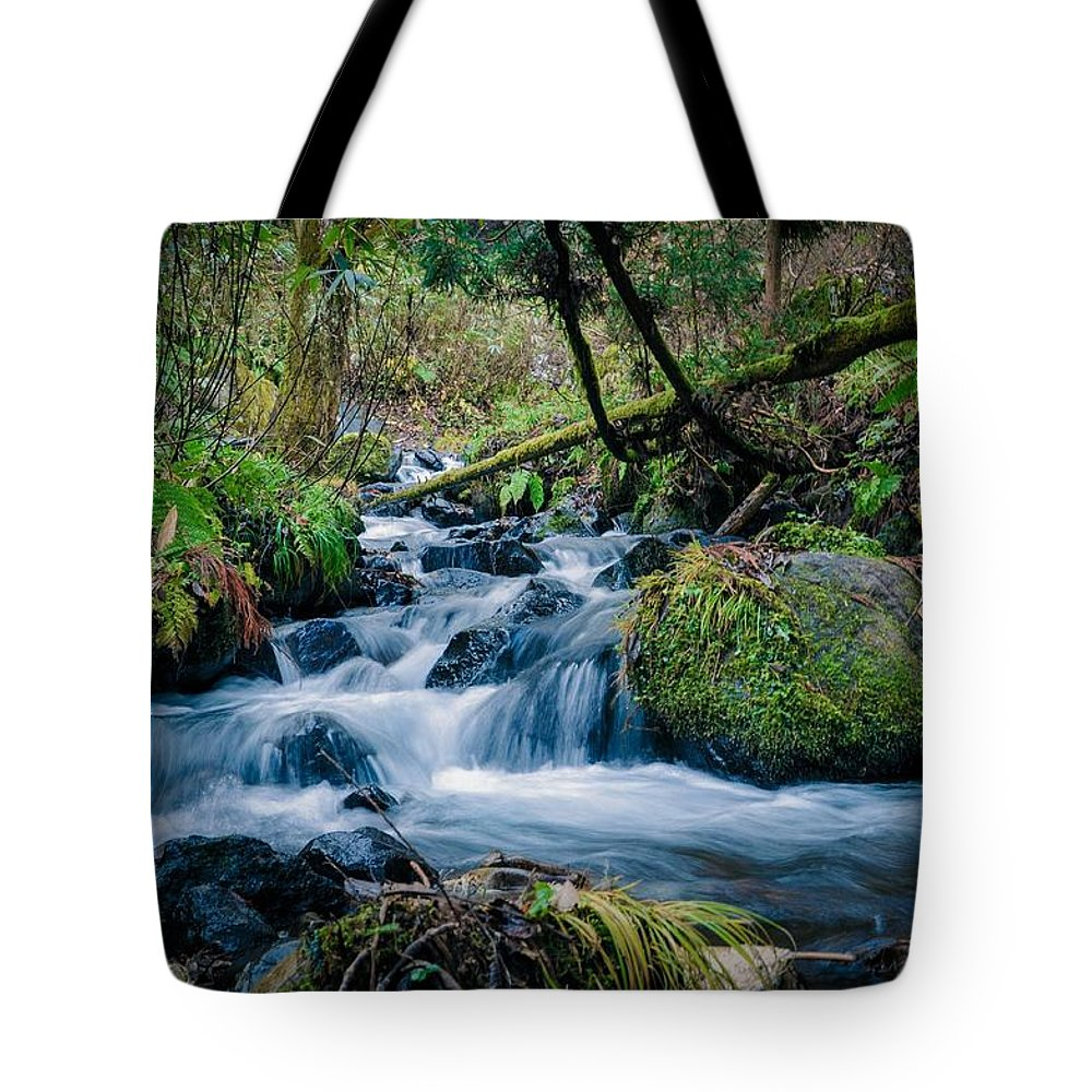 Water Tote Bag featuring the photograph Waterfall by FL collection