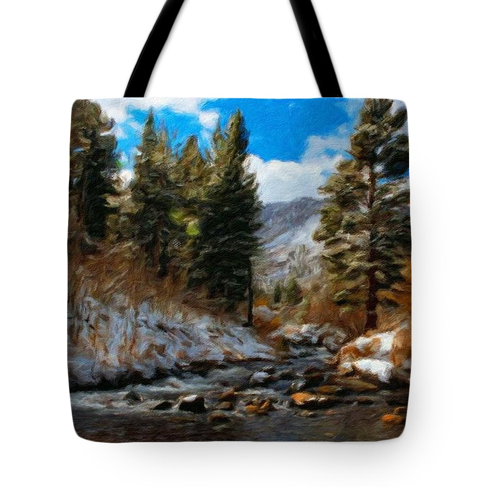 Landscape Tote Bag featuring the painting Nature Art Landscape by World Map