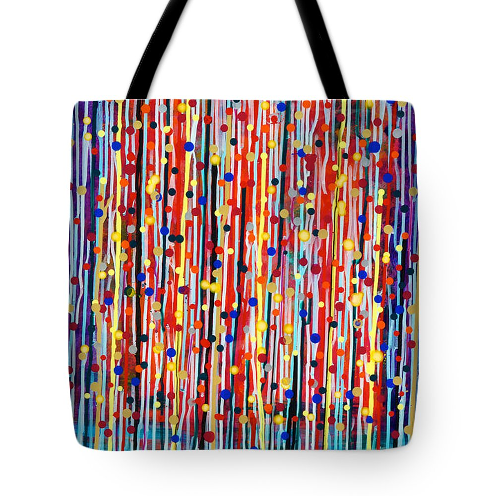 Abstract Tote Bag featuring the painting 14-19 Purple Forest by Patrick OLeary