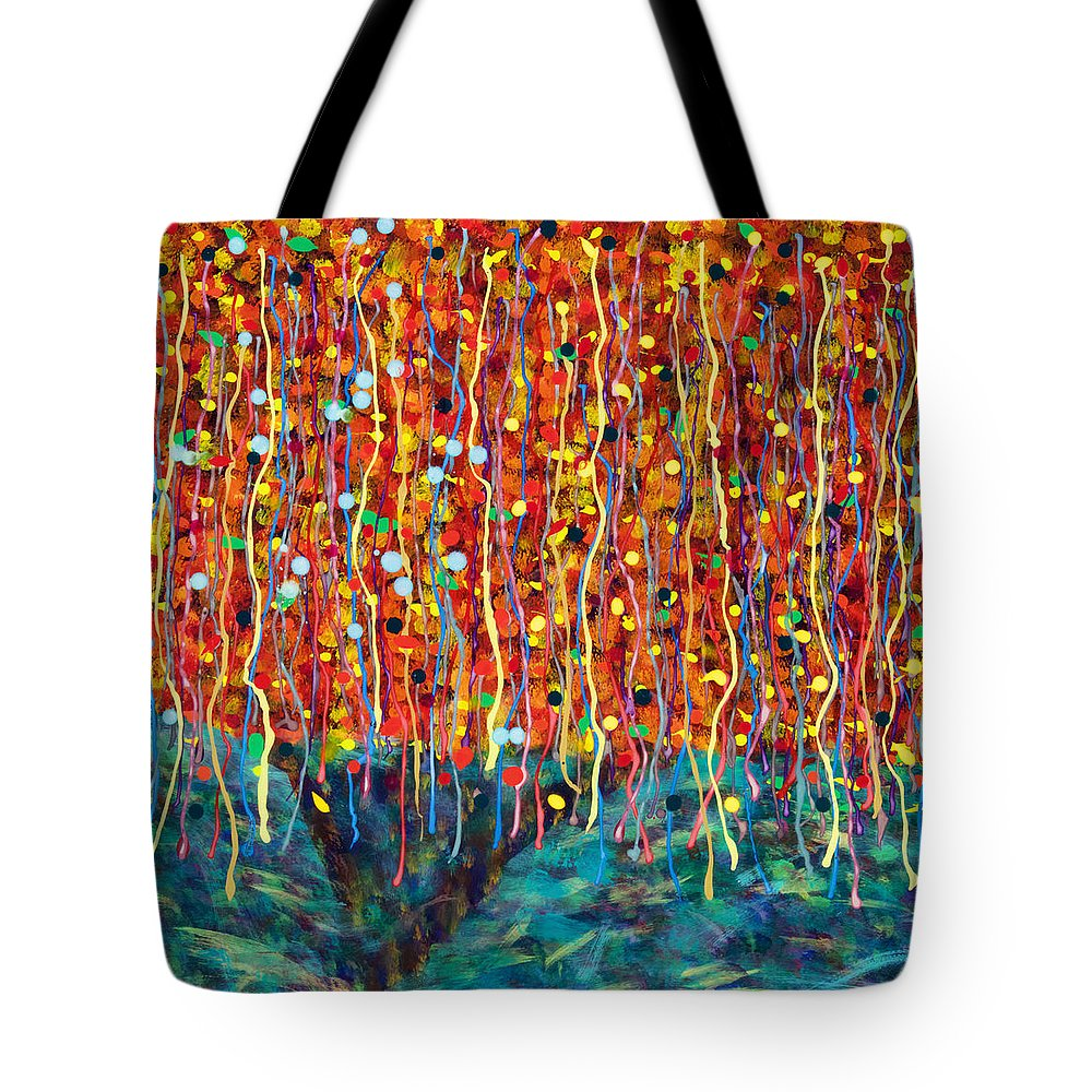 Abstract Tote Bag featuring the painting 14-50 Autumn Tree by Patrick OLeary