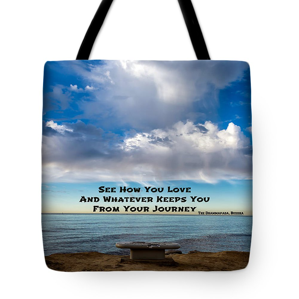 Buddha Tote Bag featuring the photograph A Buddha Saying by Joseph S Giacalone