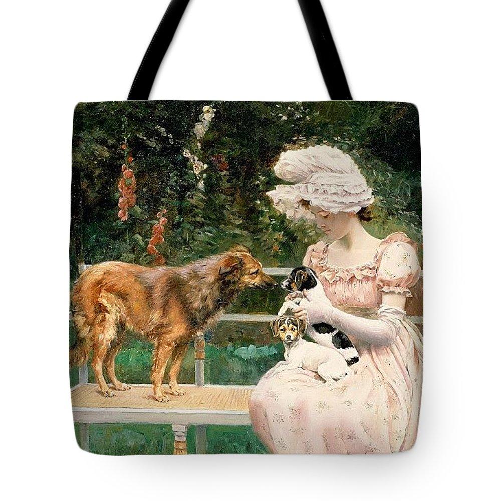 Terrier Tote Bag featuring the digital art Charles Henry Tenre by Eloisa Mannion