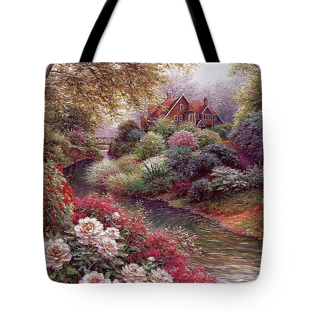 Shrub Tote Bag featuring the digital art lrs Peeters Henry No Tltle Henry Peeters by Eloisa Mannion