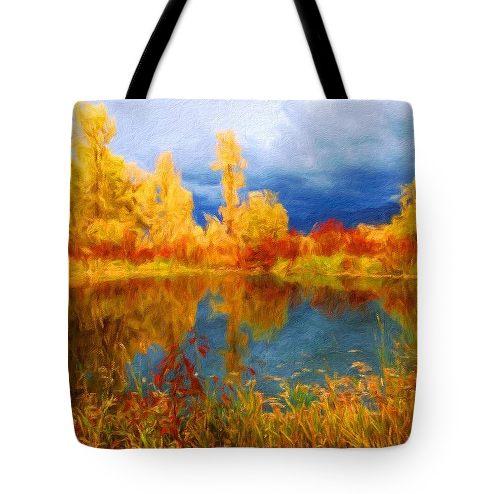 Landscape Tote Bag featuring the painting Nature Landscape Pictures by World Map
