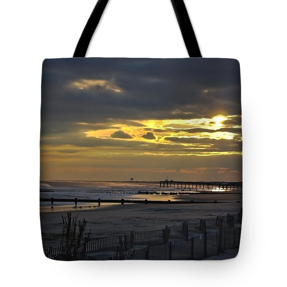 Ocean City Tote Bag featuring the photograph 14th Street Fishing Pier by Kevin Sherf