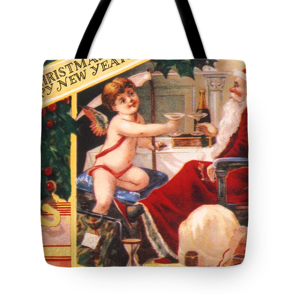 19th Century Tote Bag featuring the photograph American Christmas Card by Granger