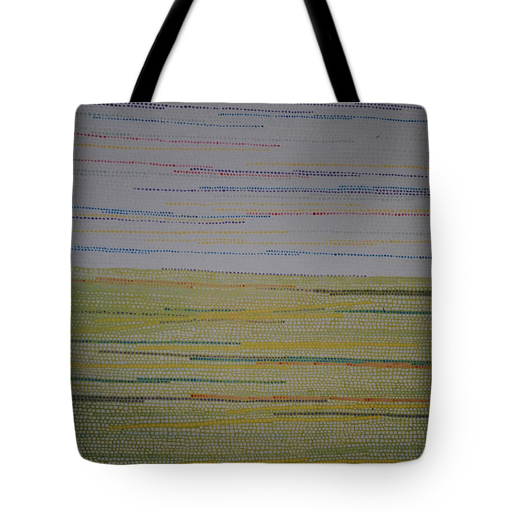 Inspirational Tote Bag featuring the painting Identity by Kyung Hee Hogg