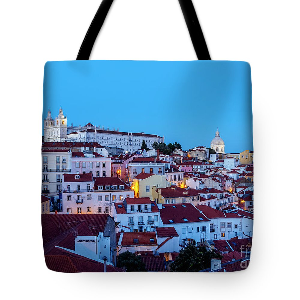 Alfama Tote Bag featuring the photograph Lisbon, Portugal by Karol Kozlowski