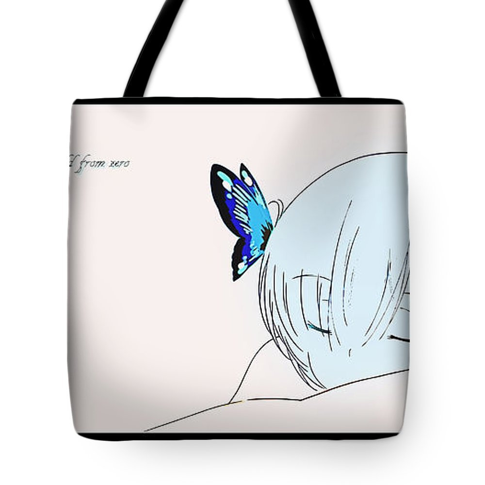 Rezero -starting Life In Another World- Tote Bag featuring the digital art Rezero -starting Life In Another World- by Lora Battle