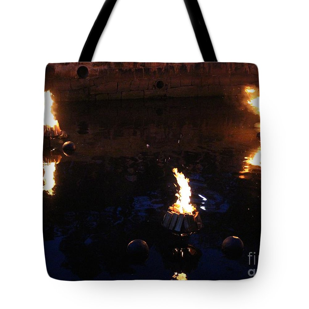 Providence Tote Bag featuring the photograph Waterfire by Deena Withycombe