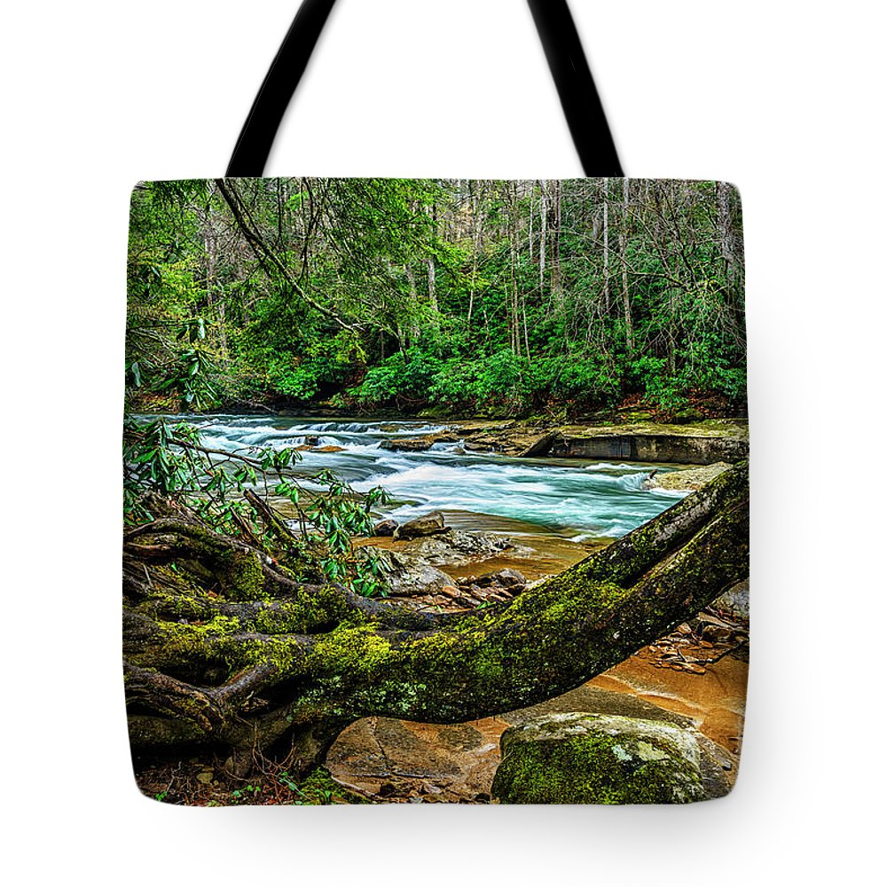 Elk River Tote Bag featuring the photograph Back Fork Of Elk River by Thomas R Fletcher