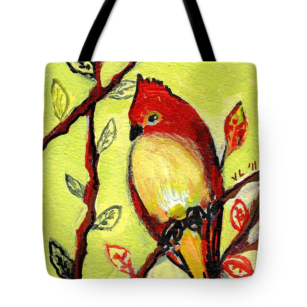 Bird Tote Bag featuring the painting 16 Birds No 3 by Jennifer Lommers
