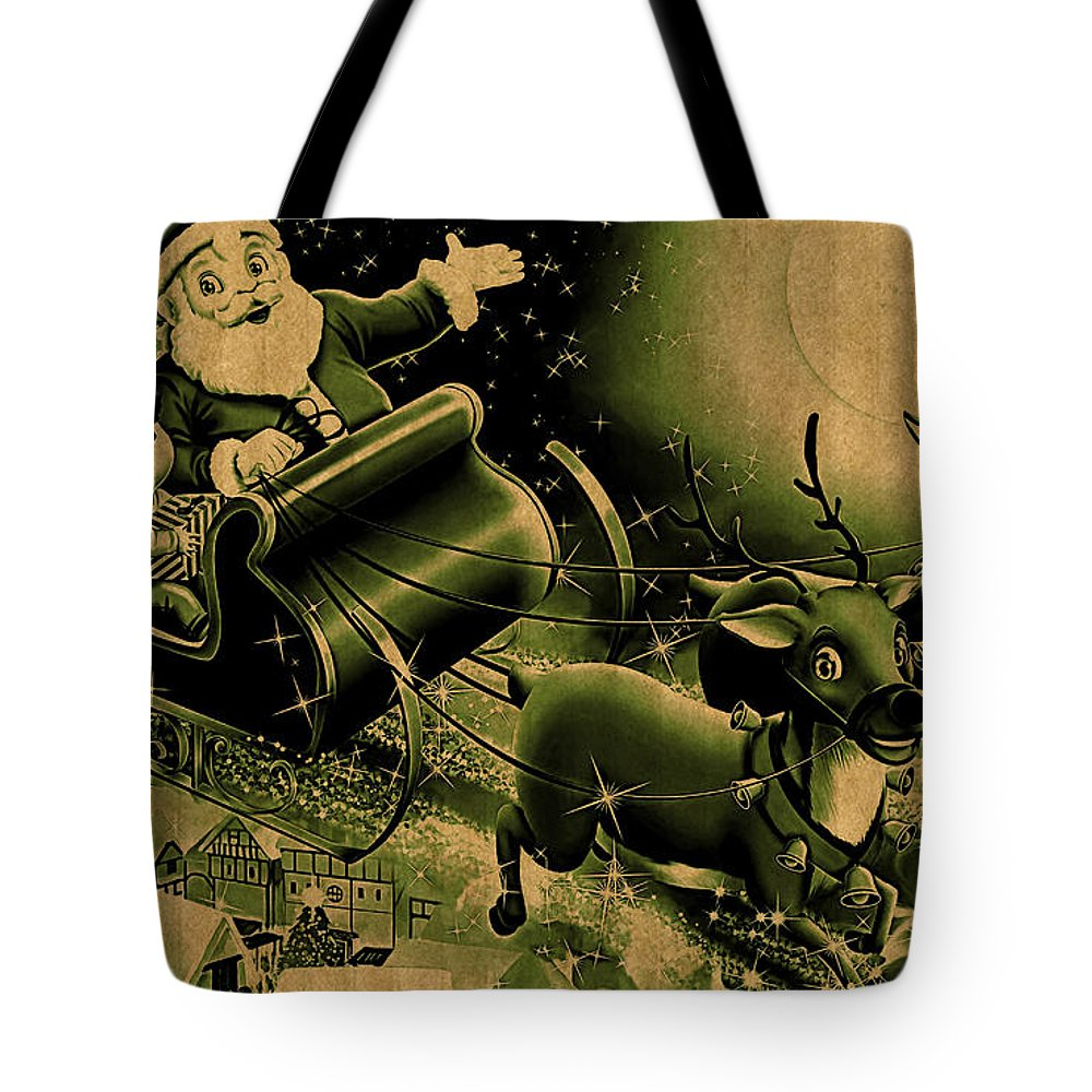 Christmas Tote Bag featuring the digital art Christmas by Lora Battle