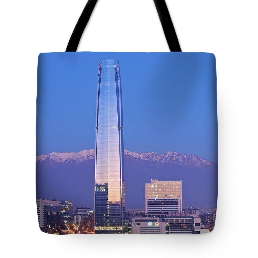 South America Tote Bag featuring the photograph Santiago De Chile by Karol Kozlowski