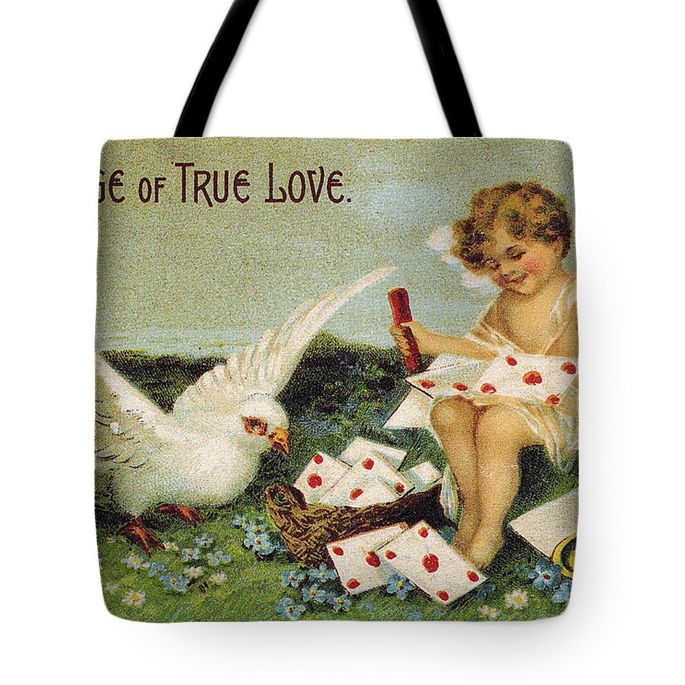1910 Tote Bag featuring the photograph Valentines Day Card by Granger