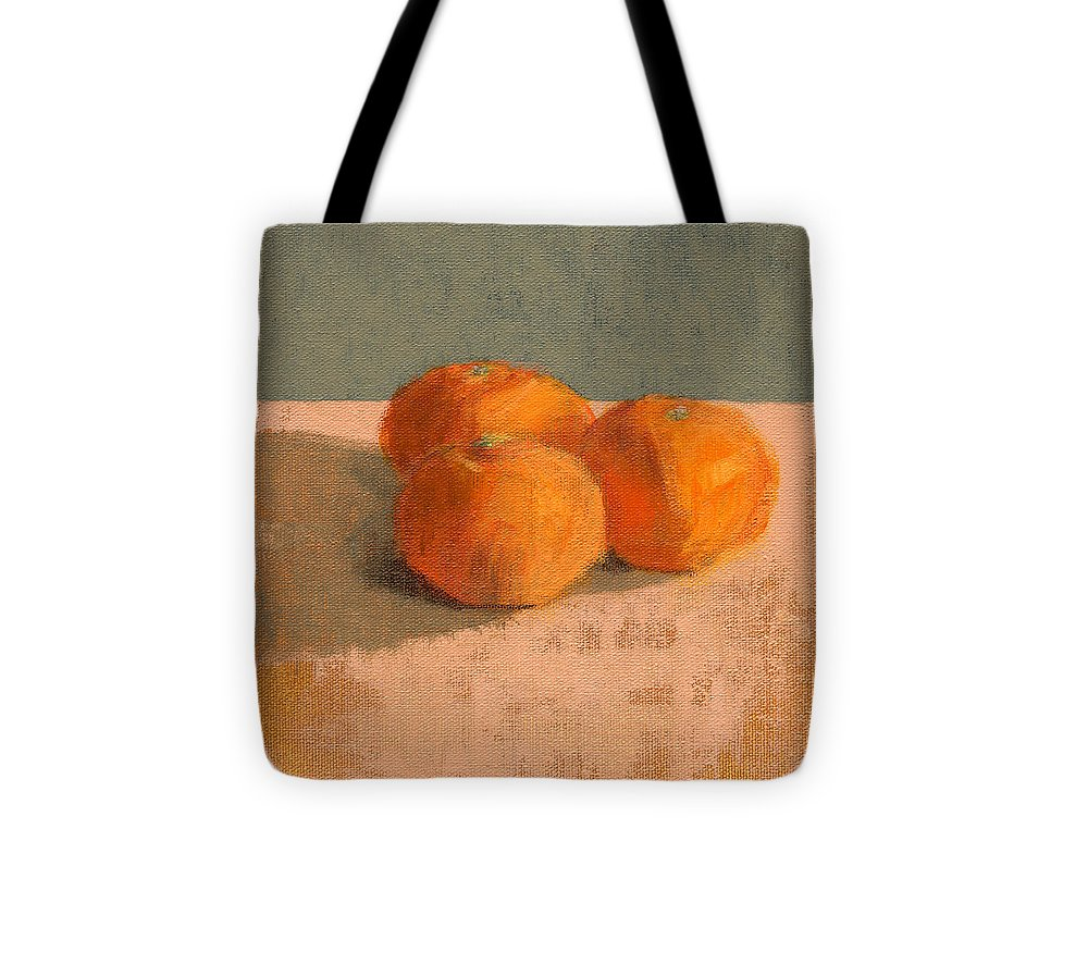 Orange Tote Bag featuring the painting Rcnpaintings.com by Chris N Rohrbach