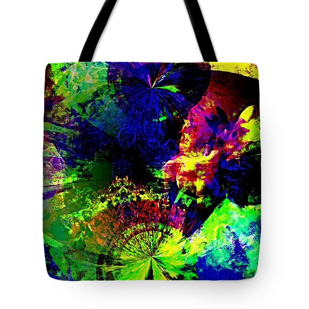 Abstract Urban Art Tote Bag featuring the digital art Abstract by Galeria Trompiz