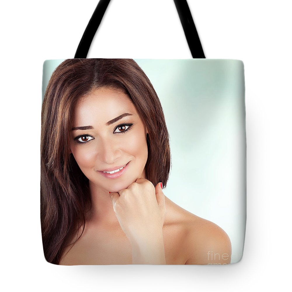 Adult Tote Bag featuring the photograph Beautiful Woman At Spa by Anna Om