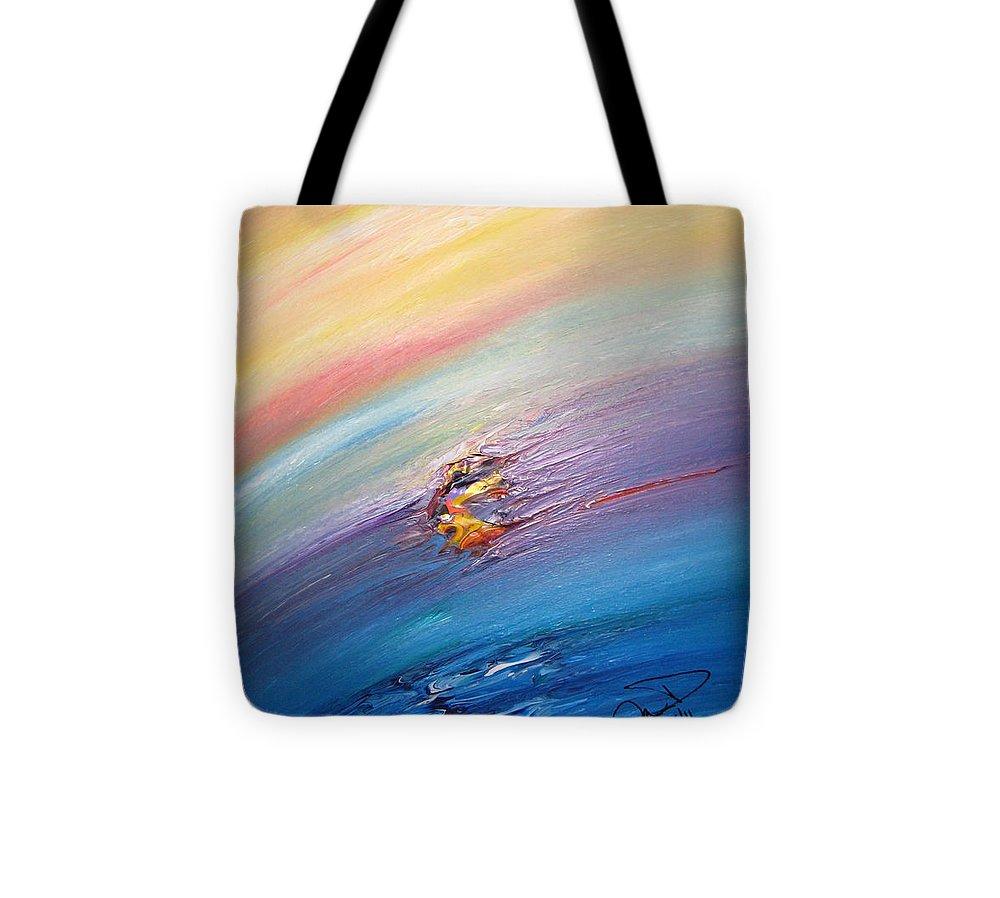 Original Abstract Masterpiece Tote Bag featuring the painting Original Abstract Masterpiece by Brenda Basham Dothage