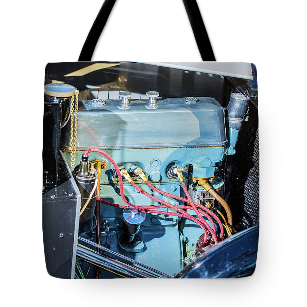 1930 Mg Tote Bag featuring the photograph 1743.036 1930 Mg Engine Plate by M K Miller