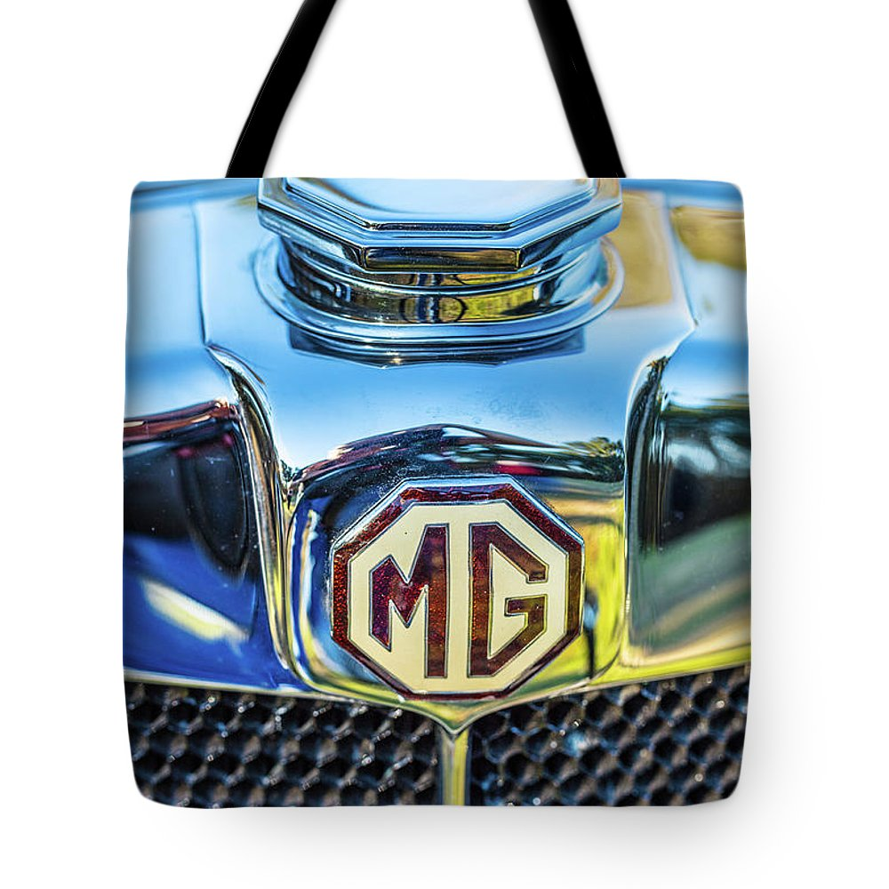 1930 Mg Tote Bag featuring the photograph 1743.039 1930 Mg Logo by M K Miller