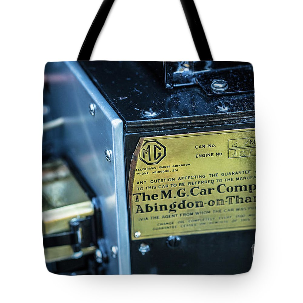 1930 Mg Tote Bag featuring the photograph 1743.045 Plate1930 Mg by M K Miller