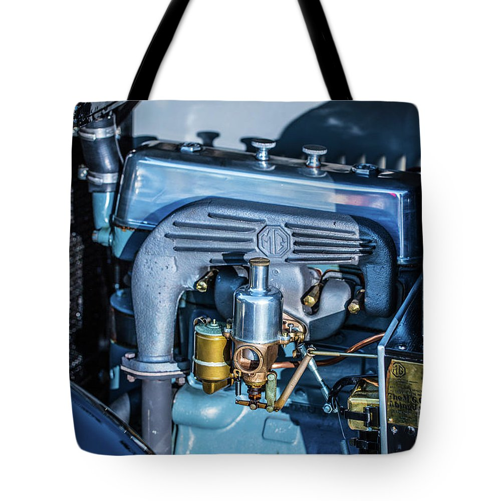 1930 Mg Tote Bag featuring the photograph 1743.046 1930 Mg Engin Plate by M K Miller
