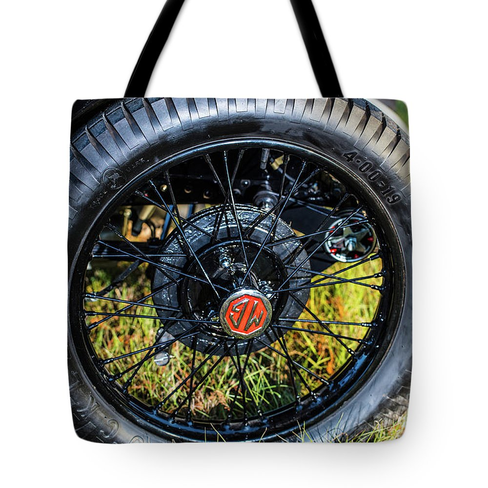 1930 Mg Tote Bag featuring the photograph 1743.051 1930 Mg Wheel by M K Miller