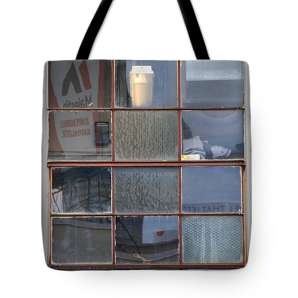 Window Tote Bag featuring the photograph 18 Panes by Kevin Myron
