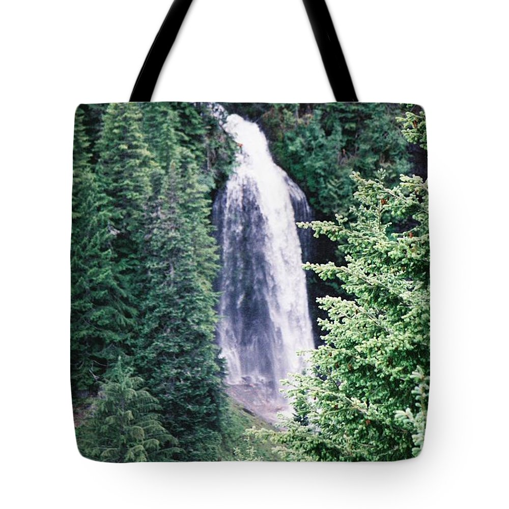 Waterfalls Tote Bag featuring the photograph Untitled by John Huntsman