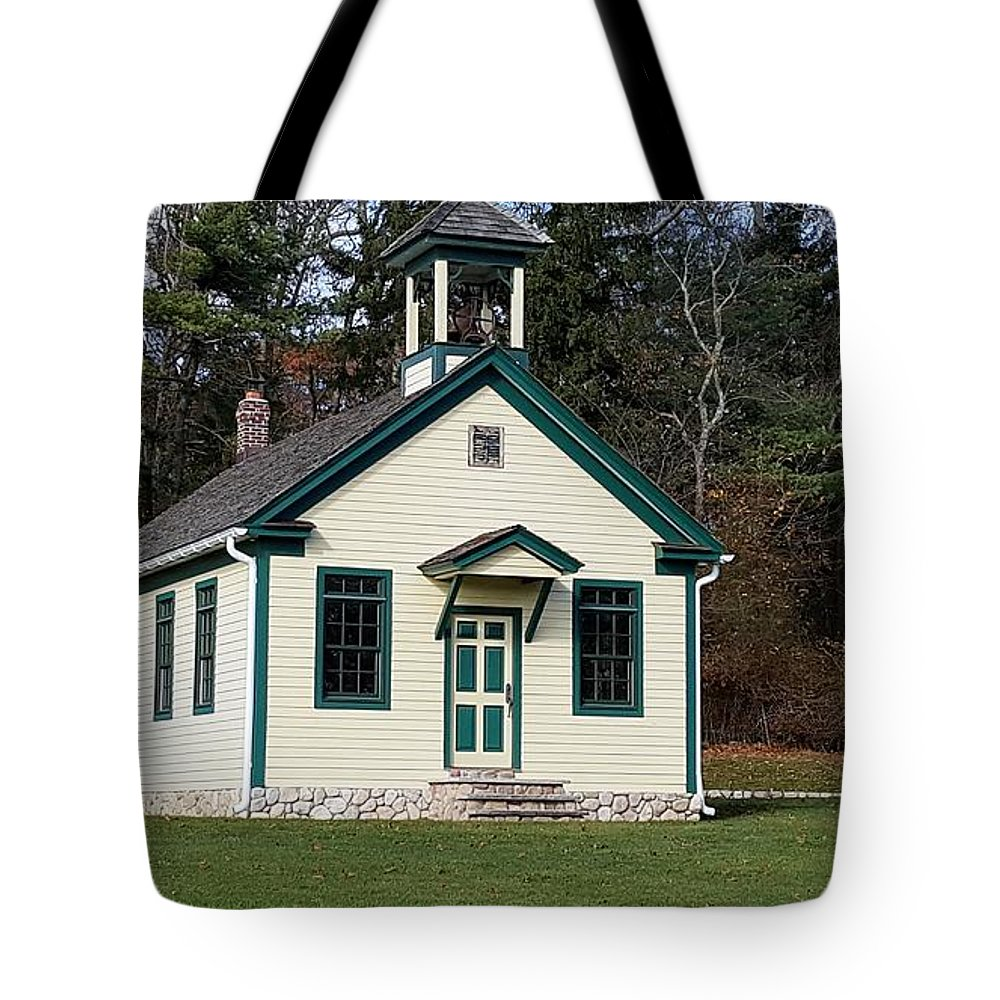 Architecture Tote Bag featuring the photograph 1800's School House 1 by Rob Hans