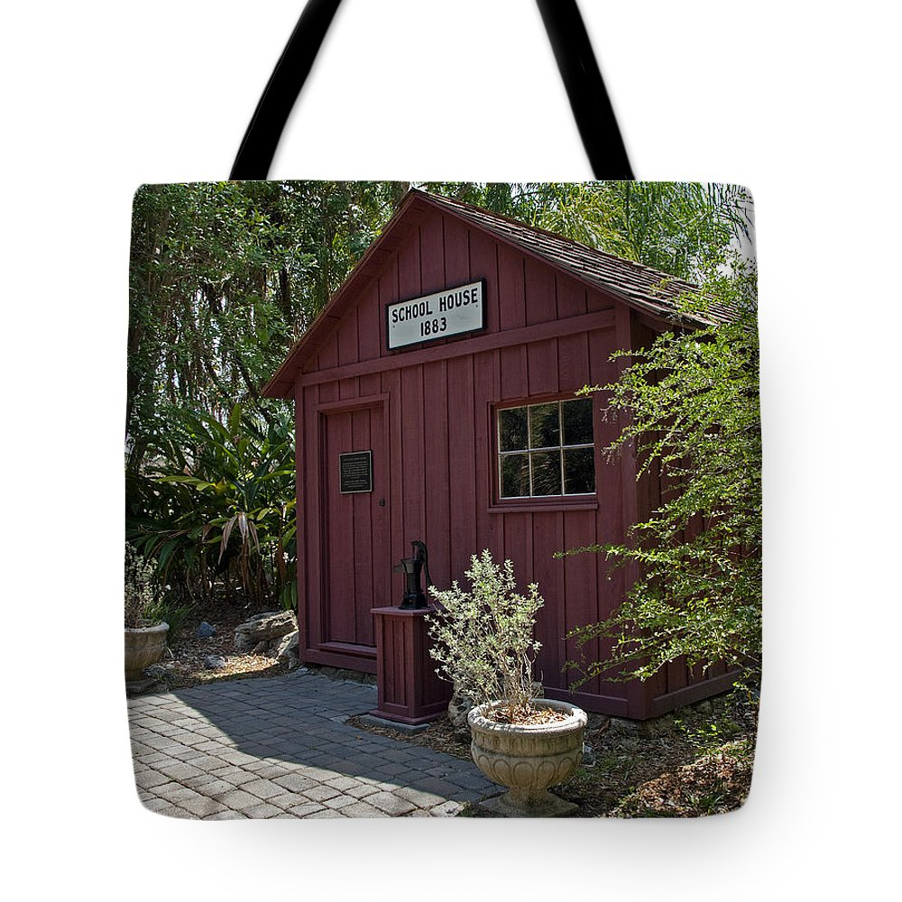 Little Tote Bag featuring the photograph 1883 Little Red Schoolhouse by Allan Hughes