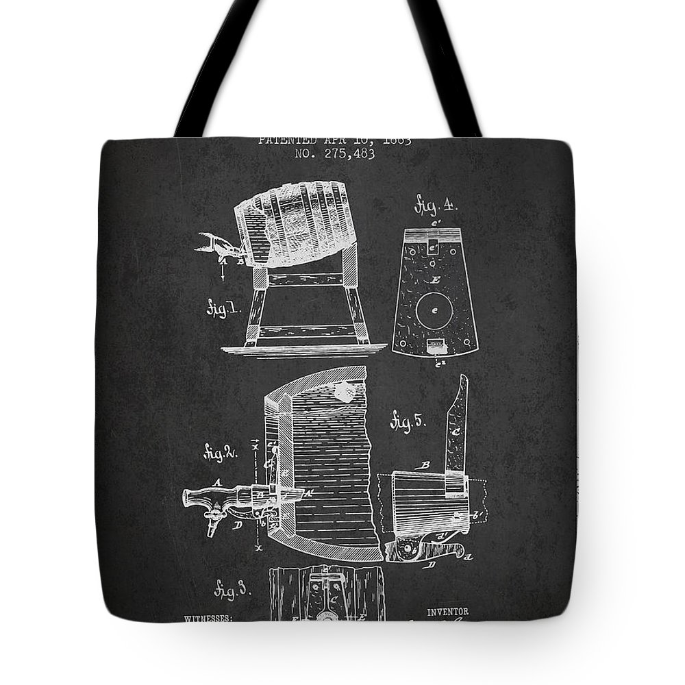1893 Faucet Attachment Patent - Charcoal Tote Bag for Sale by Aged Pixel
