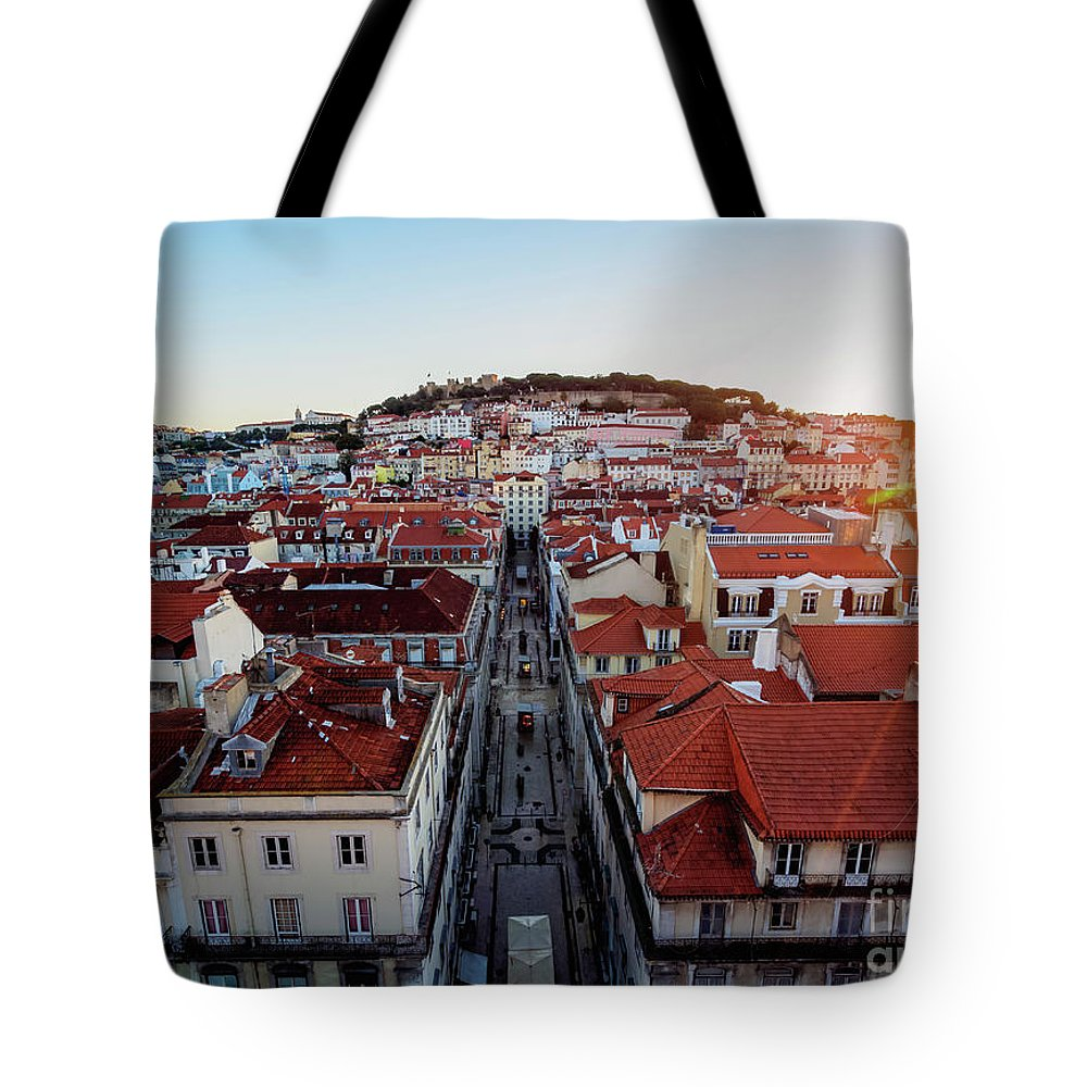 Lisbon Tote Bag featuring the photograph Lisbon, Portugal by Karol Kozlowski