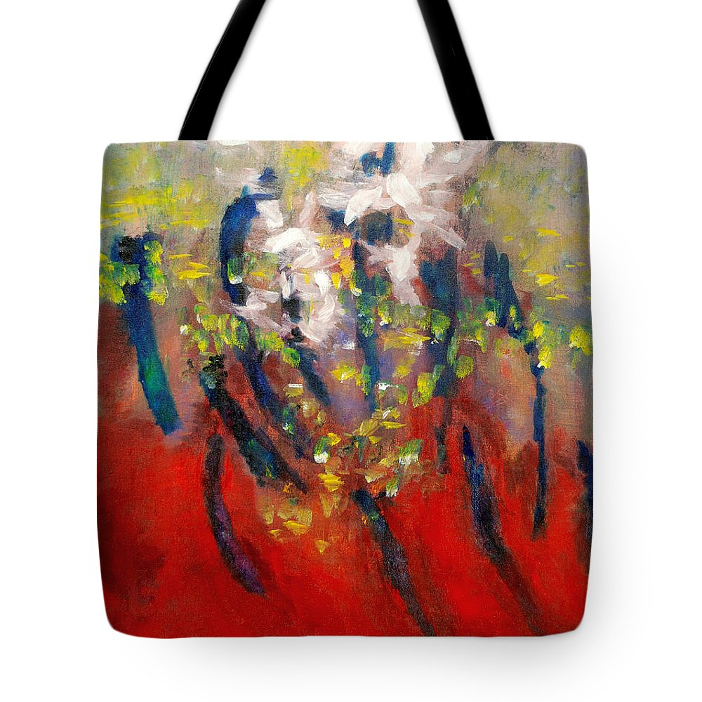 Release Tote Bag featuring the painting Glp Page 19 by Mary Leonard