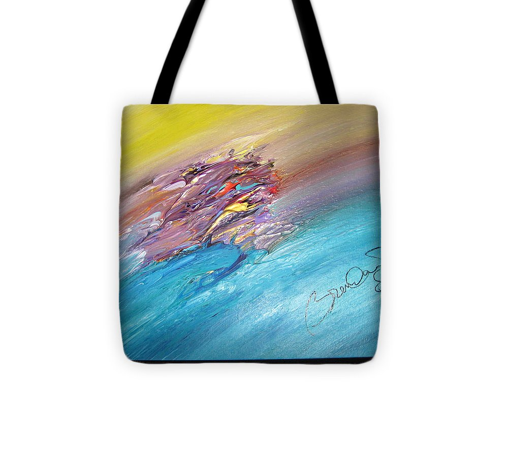 Original Abstract Masterpiece Tote Bag featuring the painting Original Abstract Masterpiece by Brenda Basham Dothage