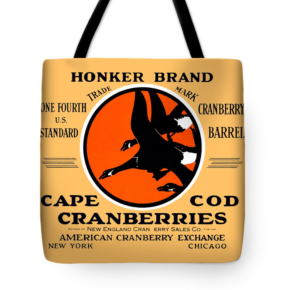 Vintage Tote Bag featuring the painting 1900 Honker Cranberries by Historic Image