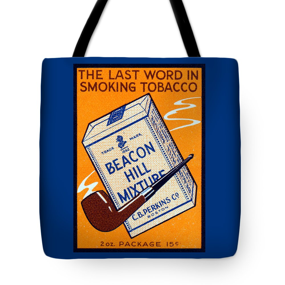 Vintage Tote Bag featuring the painting 1910 Beacon Hill Pipe Tobacco by Historic Image