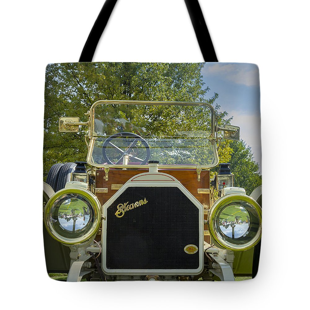 Antique Tote Bag featuring the photograph 1911 Stearns by Jack R Perry