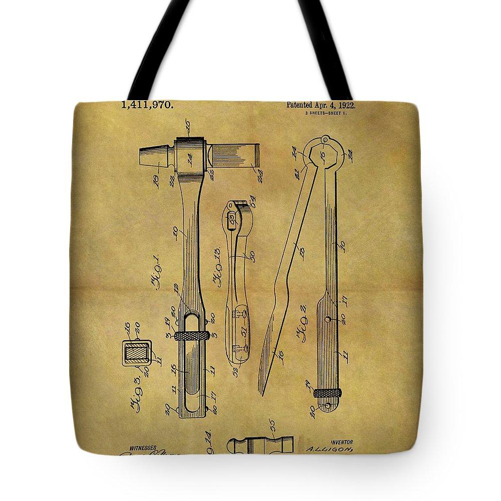 1922 Blacksmith Tools Patent Tote Bag