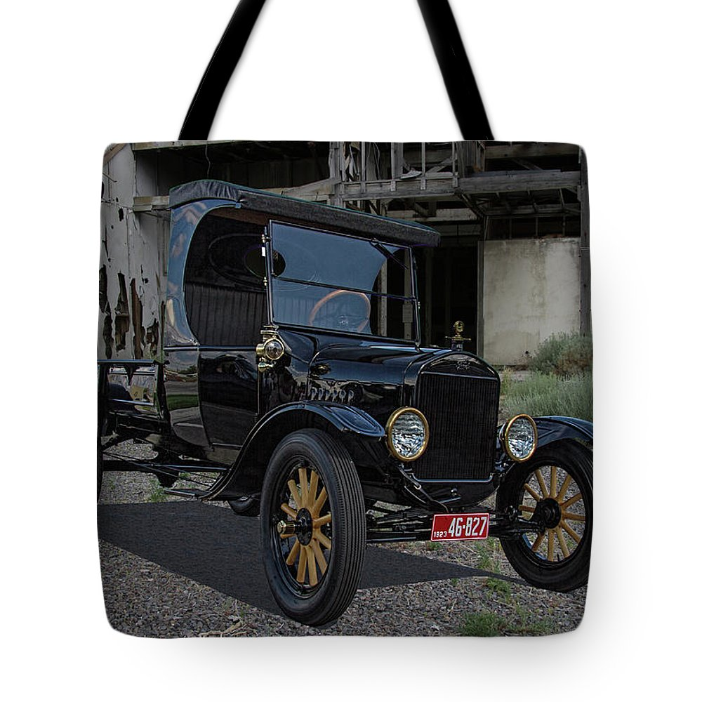 1923 Tote Bag featuring the photograph 1923 Ford Model T Truck by Nick Gray