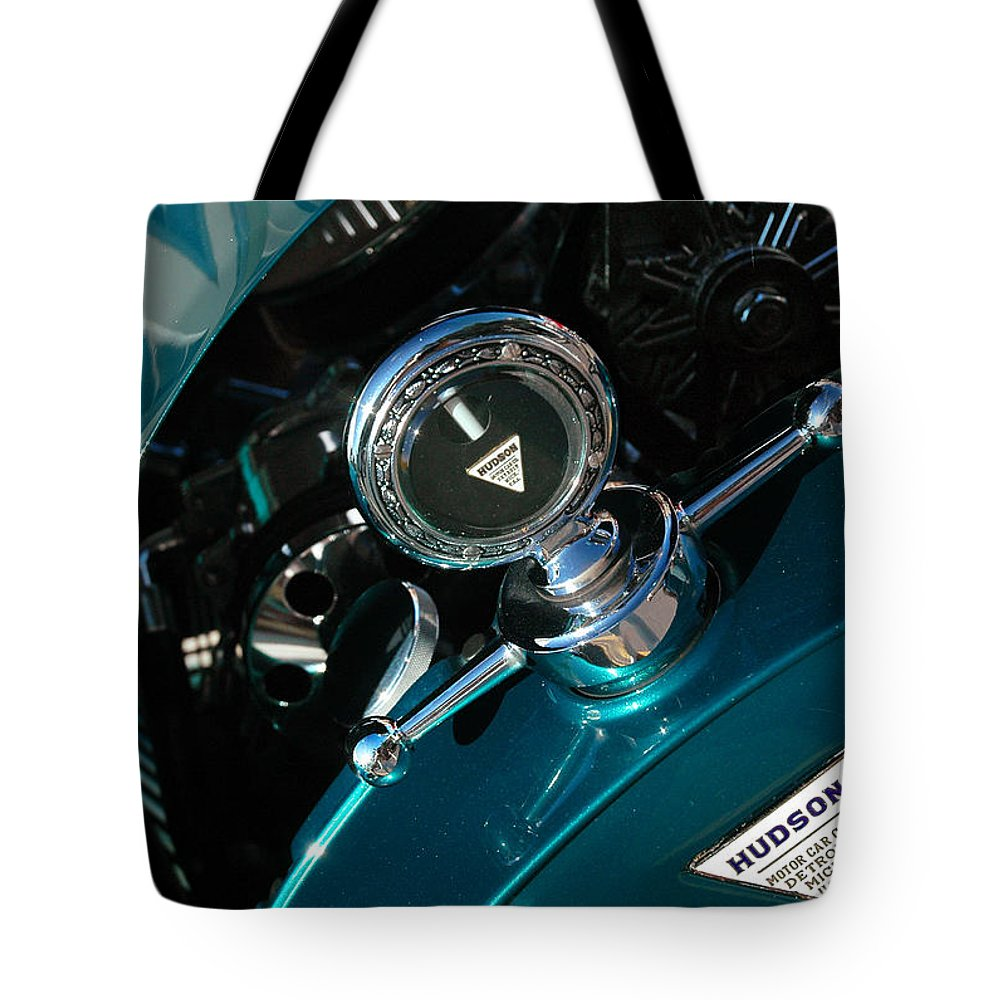 Car Shows Tote Bag featuring the photograph 1924 Hudson Hood Ornament by Ginger Wakem
