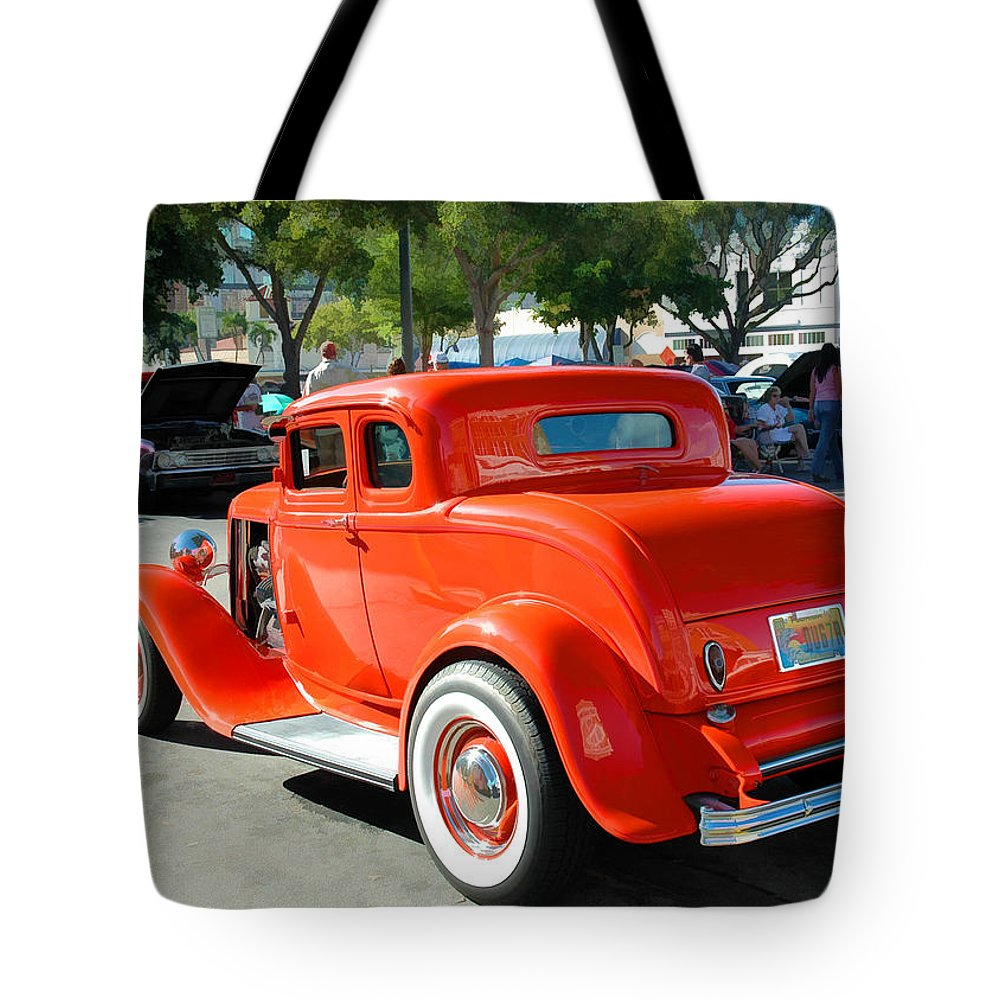 Car Tote Bag featuring the photograph 1932 Ford 5 Window Coupe by Ginger Wakem