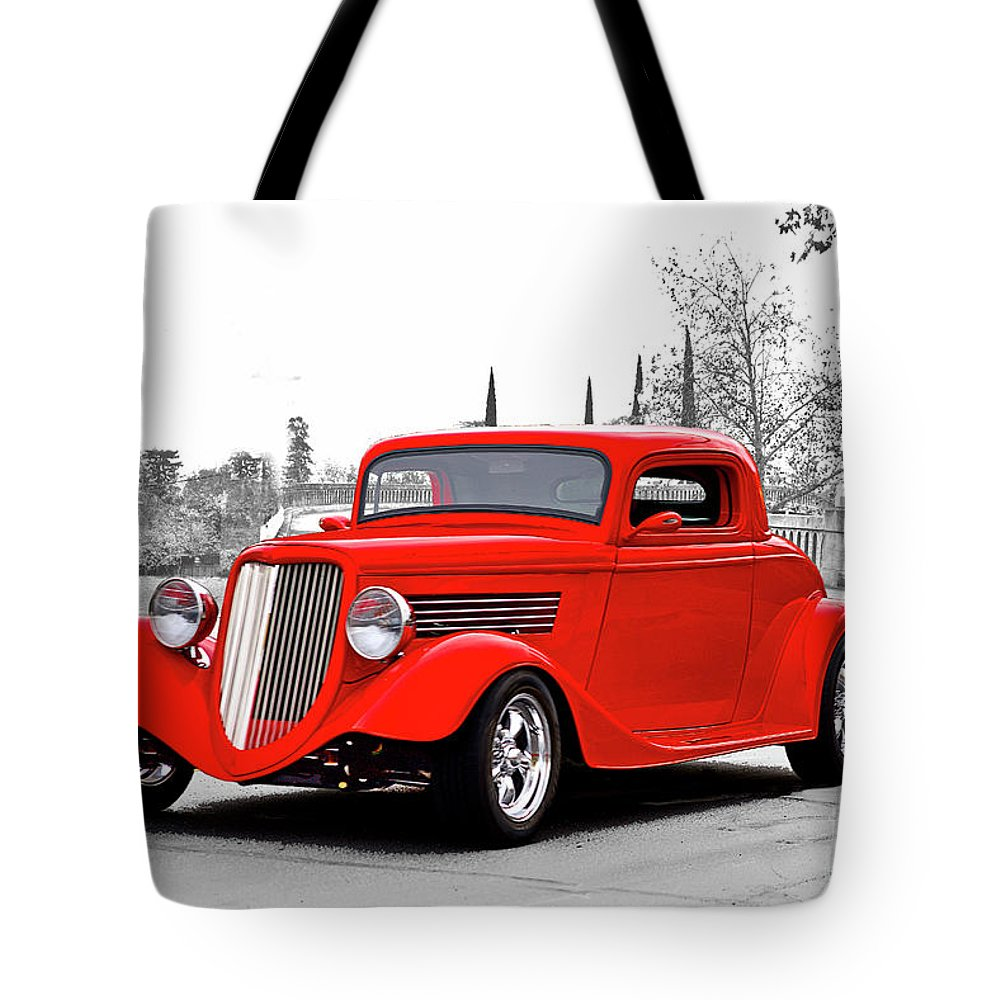 Auto Tote Bag featuring the photograph 1933 Ford 'three Window' Coupe I by Dave Koontz