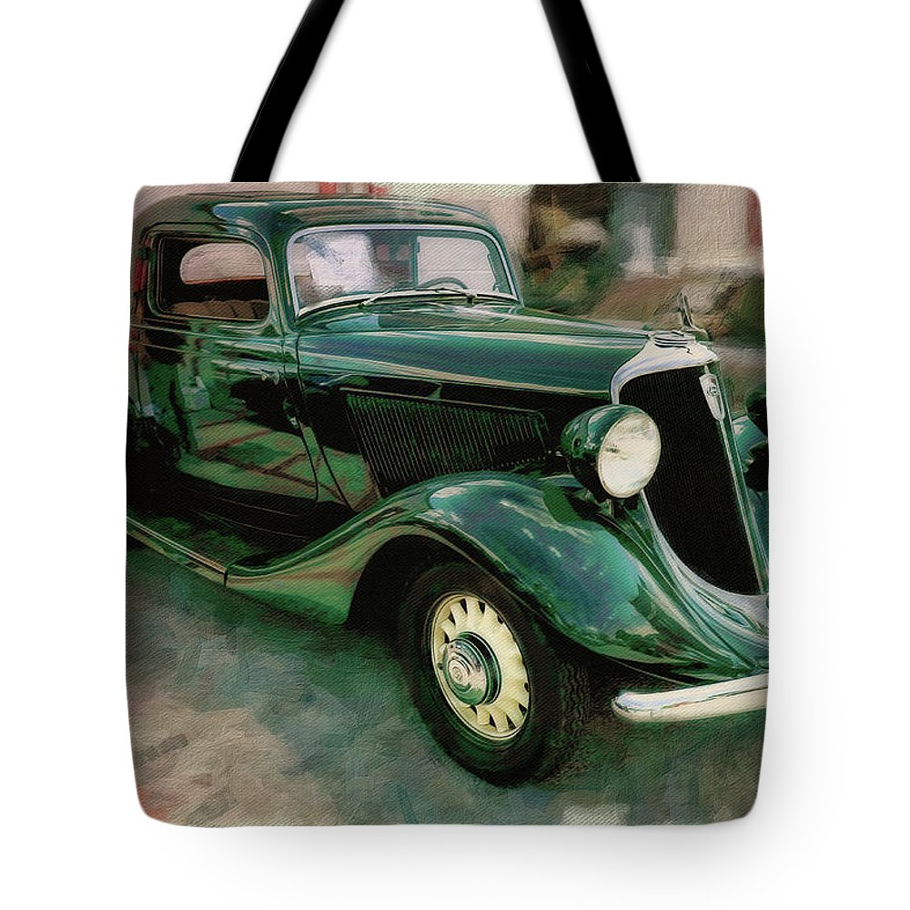 Car Tote Bag featuring the photograph 1934 Studebaker Dictator by Rich Fiddelke